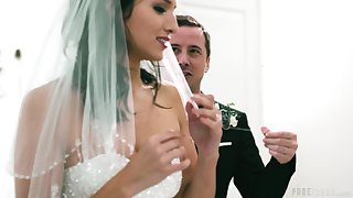 Weasel words hungry bride Bella Rolland gets fucked by his best man