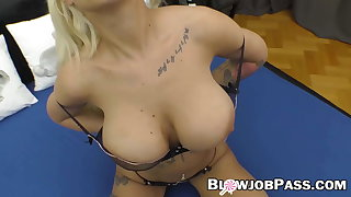 Inked MILF cocksucking before reverse cowgirl hardcore thing embrace