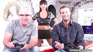 Catalina Cruz hot wife needs 2 dicks penetrating her