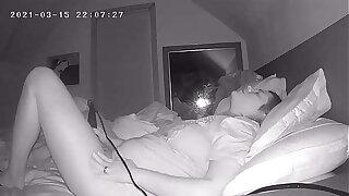 MILF Jackhammers Clit Before Bed Eavesdrop Cam