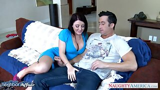 Curvaceous nextdoor tolerant Sophie Dee seduces fixed devoted to man dimension his wife is on a romance trip