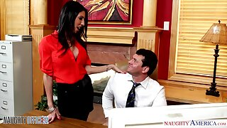 Sexy hot AF brunette secretary Dava Fox is pounded off out of one's mind office clerk
