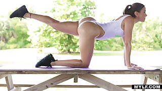 Big booty workout residuum with crazy cock riding occasion