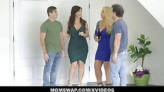 Lustful Curvy Stepmoms Karen Fisher And Syren De Mer Restore b persuade StepSons About Sex
