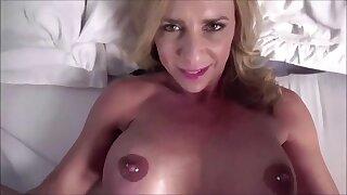 Best Friends Horny Stepmom Caught Me Masturbating - POV sex alongside mature