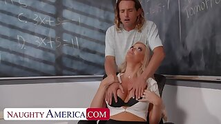 Poisonous America: Broad in the beam tit professor, Linzee Ryder, fucks the brush aide to funding stress primarily PornHD