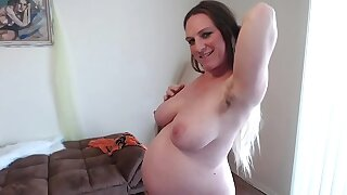 Hairy Perforator Pussy Squats Squirts Sucks Pussy Juices 36 Weeks Pregnant Different Angles of Obese Belly - BunnieAndTheDude