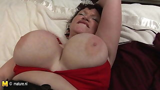 Big Breasted mature mom KIM get naughty