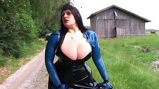 The Busty Farmer Lady - Outdoor Blowjob Handjob - Cum on my Tits