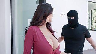 Premium mature severe fucked by masked stranger