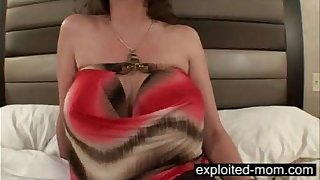 Big titty mature fucking black cock in Milf Interracial Video