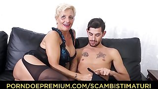 SCAMBISTI MATURI - Hardcore ass fucking with Italian blonde granny Shadow