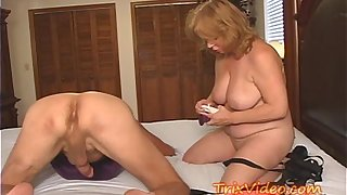 She's a BALL Busting Strap-On GRANNY