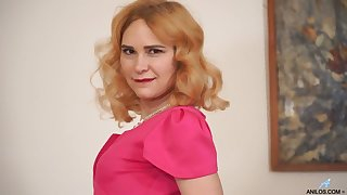 Red haired housewife Adelis Shaman is playing with her sex-starved punani
