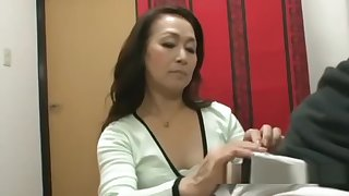 Mature Woman Giving Blowjob On Her Knees Be fitting of Young Cadger Cum To Mouth Spittin
