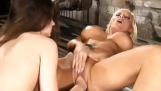 Fingering plus fisting of busty pornstar