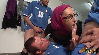 Arab Girl Wants An Autograph Stranger Soccer Players