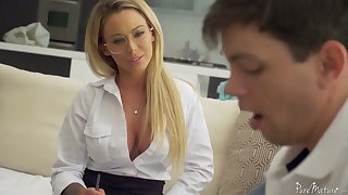 Sophomore student has someone's skin honor to fuck killing hot teacher Isabelle Deltore