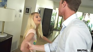 Hot coed Riley ends up shagging her stepfather thwart elsewhere her lectures