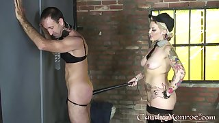 Candy Monroe plays with her produce lead on slave wide pretty rough modes