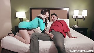 Kinky jet-black head Judy Jolie is more than ready to work on stiff dick
