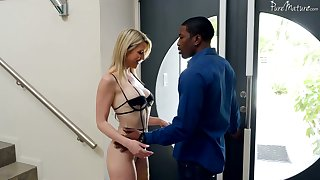 Buxom blonde MILFie cowgirl Kit Mercer rides super long BBC on acme
