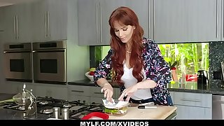 MYLF - Redhead Milf Gives Blowjob To Will not hear of Big Unearth Stepson