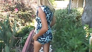 Smoking hot blonde milf gets fucked while on vacation