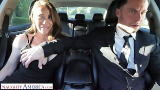 Whore wife Bianca Burke is cheating more than her husband with his driver