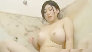 Japanese asian with big bowels Makes yourselves cum bathroom live within reach LickAToad
