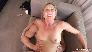 Slutty Mature Nailed Off out of one's mind Two Guys