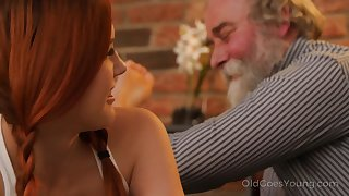 Expandible and impudent Czech nympho Charli Red-hot lures older man of wild intrigue b passion