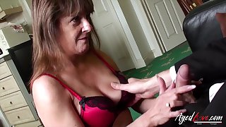 Old widow Pandora gets intimate with one young man living nextdoor