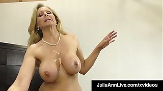 Dick Sucking Cougar Julia Ann Sucks & Strokes Random Cock!