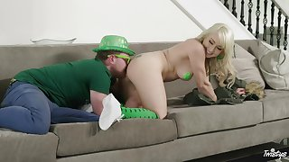 Valerie White celebrates St. Patrick's Day with a inexact bang