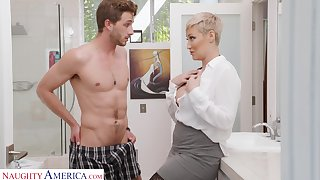 Unwed generalized Ryan Keely is spying on son's best friend wanking in the guest room