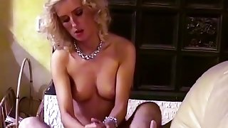 This blonde is a bigger slut than a particular and she is also a handjob expert
