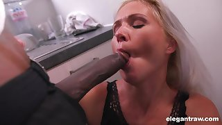 Unsatisfied white woman is possessions her first inclination be useful to big black cock