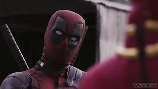 Deadpool devours blonde's ass in crazy XXX sequel
