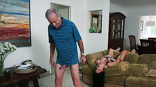 BLUE PILL MEN - We Succeed in Old Man Johnny An Escort (Aria Rose) To Fulfill His Depraved Without fail